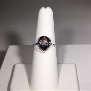 Stunning Rare Color Change Blue-Purple Spinel Ring